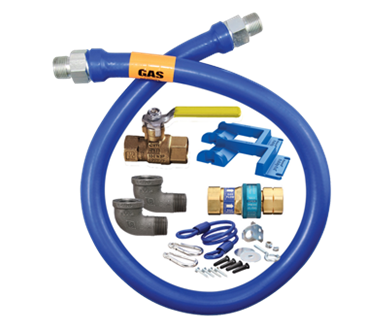 "Dormont 16100kit48 deluxe snapfast® 1""x 48"" gas connector kit."