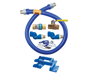 Dormont Manufacturing Manufacturing 1675KIT2S48PS Dormont Blue Hose™ Moveable Gas Connector Kit