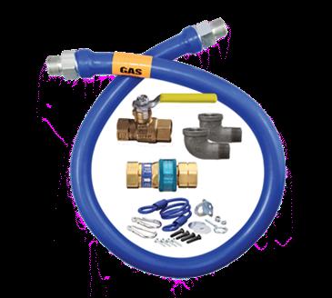 Dormont Manufacturing Manufacturing 1675KIT60 Dormont Blue Hose™ Moveable Gas Connector Kit