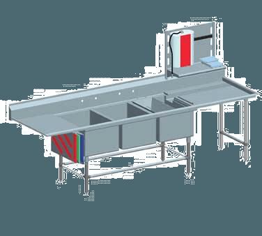 Eagle Group Group FNP2860-3-48TR Spec-Master FNP Series Coved Corner Prep Sink