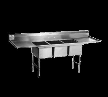 Eagle Group Group SFN3242-3-18L-14/3 Spec-Master® Supermarket Meat Platter Sink