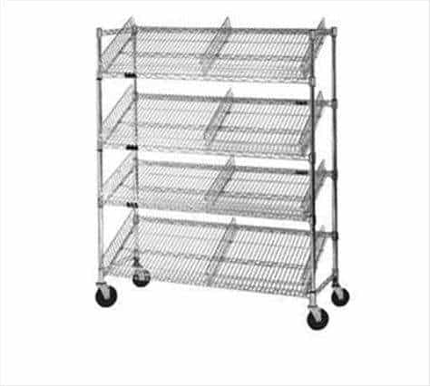 Eagle Group M1848BL-4 Angled Shelf/Visual Merchandising Cart