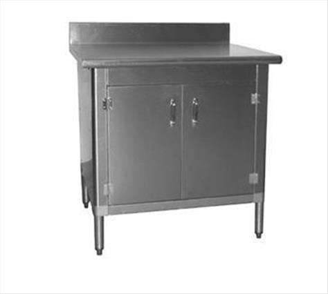 Eagle Group T3048BA-BS-SLD Work Table With Cabinet Kit