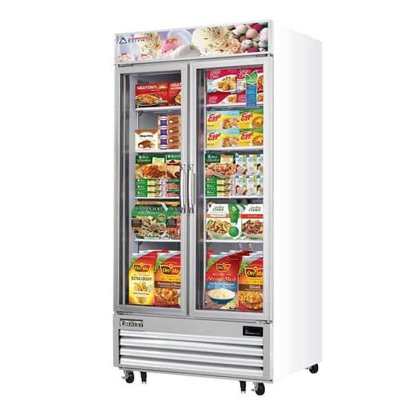 Everest Refrigeration Refrigeration EMGF36 41'' 36.0 cu. ft. 2 Section White Glass Door Merchandiser Freezer