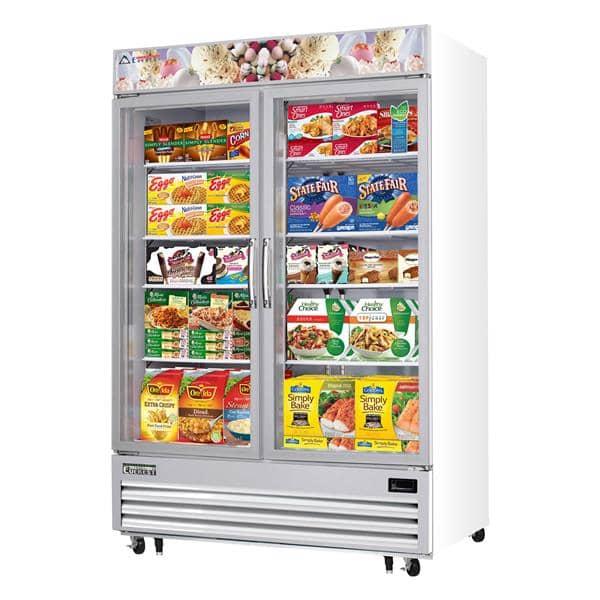 Everest Refrigeration Refrigeration EMGF48 54.75'' 48.0 cu. ft. 2 Section White Glass Door Merchandiser Freezer