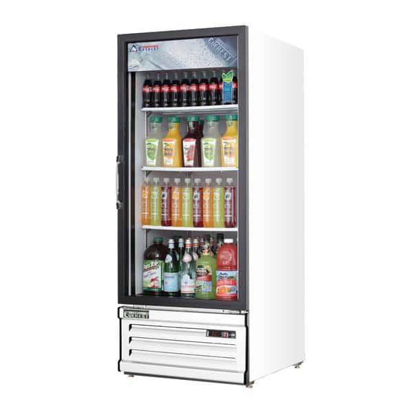 Everest Refrigeration Refrigeration EMGR10 24'' White 1 Section Swing Refrigerated Glass Door Merchandiser