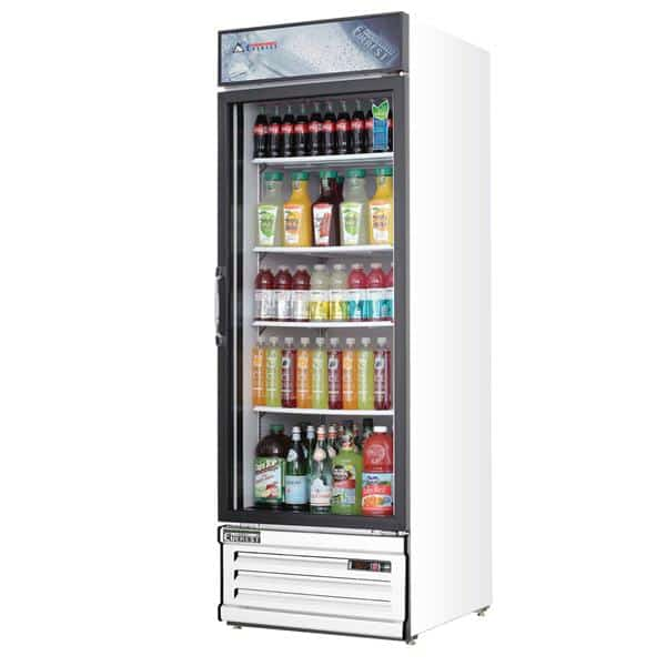 Everest Refrigeration Refrigeration EMGR20 24.75'' White 1 Section Swing Refrigerated Glass Door Merchandiser
