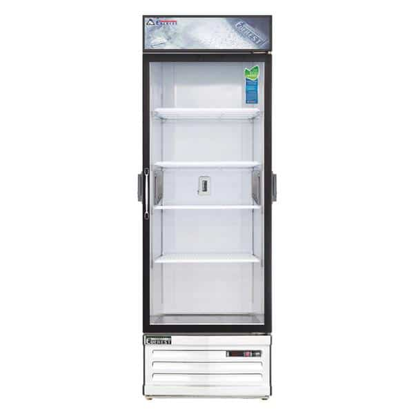 Everest Refrigeration Refrigeration EMGR24C 28.38'' White 1 Section Swing Refrigerated Glass Door Merchandiser