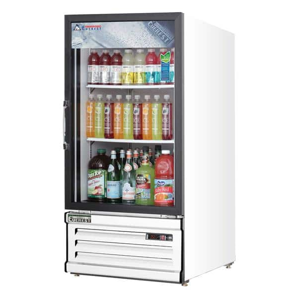 Everest Refrigeration Refrigeration EMGR8 24'' White 1 Section Swing Refrigerated Glass Door Merchandiser