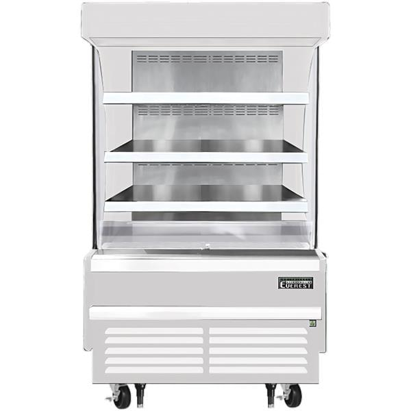 Everest Refrigeration Refrigeration EOMV-36-W-28-S 37.25'' Air Curtain Open Display Merchandiser with