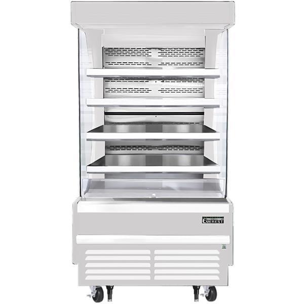 Everest Refrigeration Refrigeration EOMV-36-W-28-T 37.25'' Air Curtain Open Display Merchandiser with