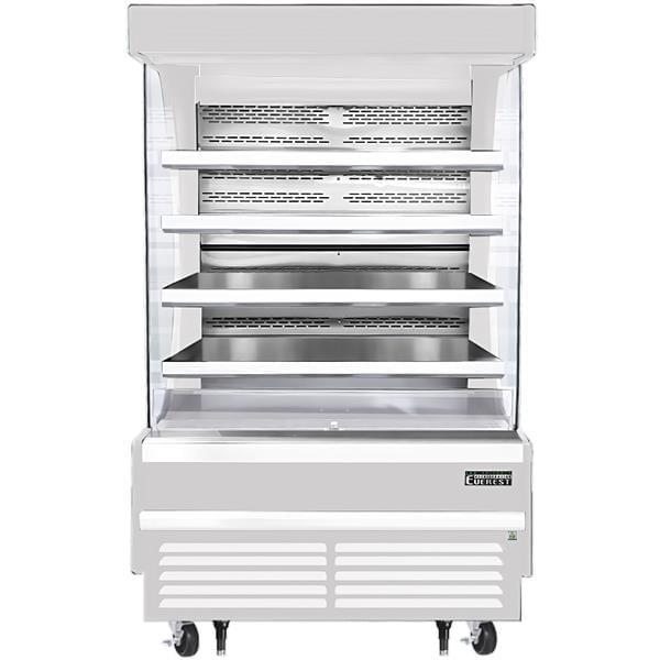 Everest Refrigeration Refrigeration EOMV-48-W-28-T 48.00'' Air Curtain Open Display Merchandiser with