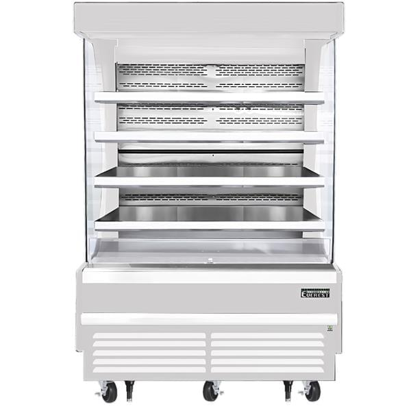 Everest Refrigeration Refrigeration EOMV-72-B-28-S 73.25'' Air Curtain Open Display Merchandiser with