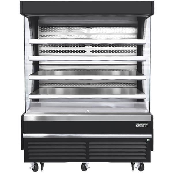 Everest Refrigeration Refrigeration EOMV-72-B-28-T 73.25'' Air Curtain Open Display Merchandiser with