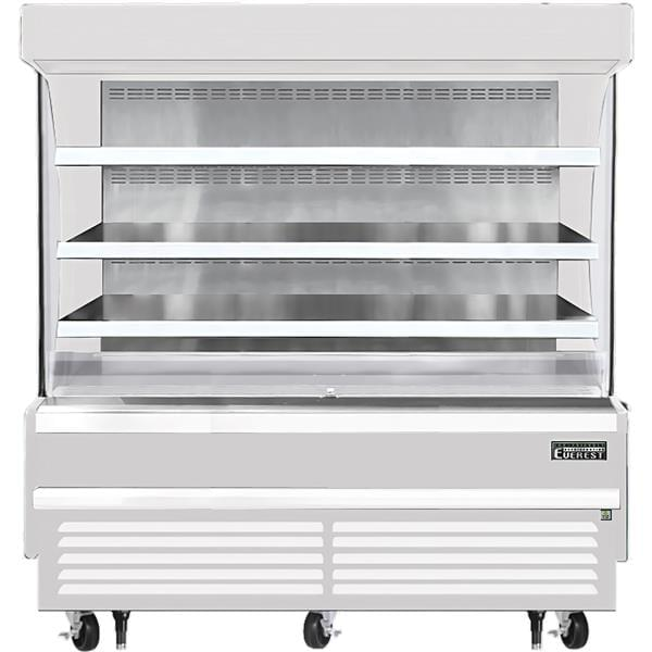 Everest Refrigeration Refrigeration EOMV-72-W-28-S 73.25'' Air Curtain Open Display Merchandiser with