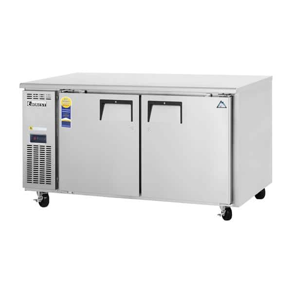 Everest Refrigeration Refrigeration ETWF2 59.25'' 2 Section Undercounter Freezer with 2 Left/Right Hinged Solid Doors and Front Breathing Compressor