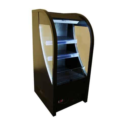 Excellence AC-6HC 25.5'' Black Vertical Air Curtain Open Display Merchandiser with 3 Shelves