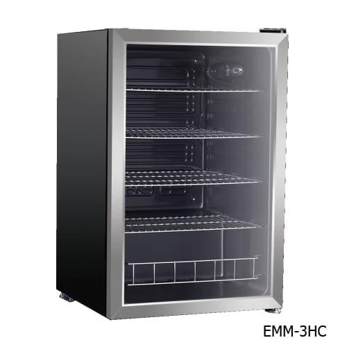 Excellence EMM-2HC Countertop Beverage & Food Cooler - Stainless Door