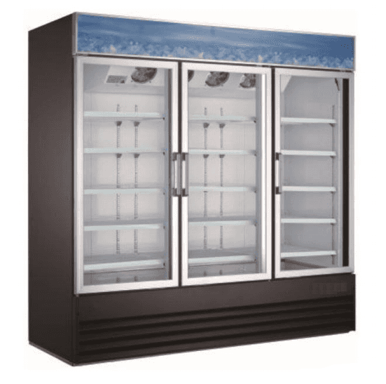 Falcon Food Service Equipment AGM-78 78.25'' Section Refrigerated Glass Door Merchandiser