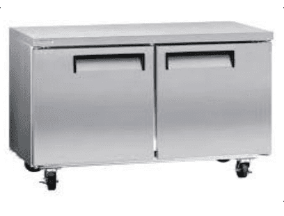 Falcon Food Service Equipment AUC-48 47.25'' 2 Section Undercounter Refrigerator with 2 Left/Right Hinged Solid Doors and Side / Rear Breathing Compressor
