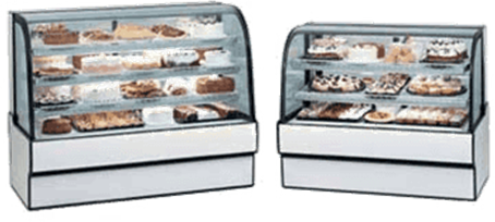 Federal Industries CGR3648 Curved Glass Refrigerated Bakery Case
