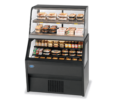 Federal Industries CH4828/RSS4SC Specialty Display Hybrid Merchandiser Refrigerated Self-Serve Bottom With Hot Service Top