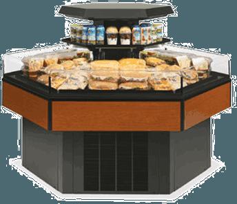 Federal Industries HXISS60SC Specialty Display Hexagon Island Self-Serve Refrigerated Merchandiser