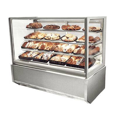Federal Industries ITD4834-B18 Italian Glass Non-Refrigerated Display Cases
