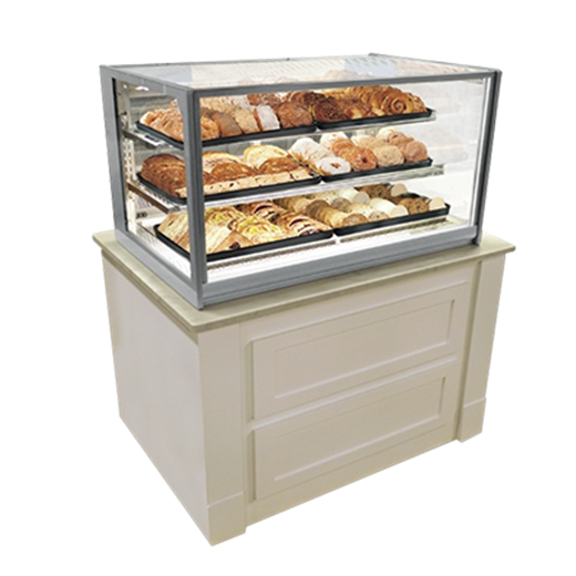 Federal Industries ITD4834 Italian Glass Non-Refrigerated Display Case