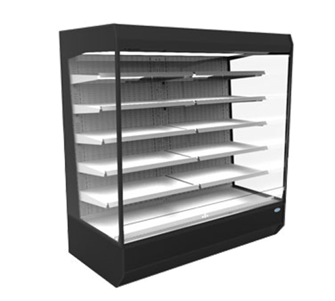 Federal Industries LMD7278R 73.8'' Black Vertical Air Curtain Open Display Merchandiser with 5 Shelves