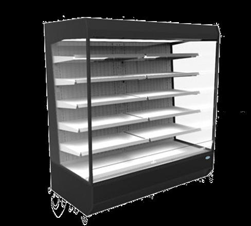 Federal Industries LMD9678R 97.8'' Black Vertical Air Curtain Open Display Merchandiser with 5 Shelves