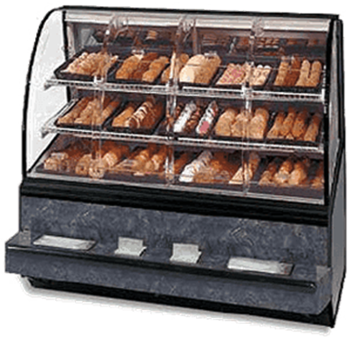 Federal Industries SN-77-SS Series 90 Non-Refrigerated Self-Serve Bakery Case