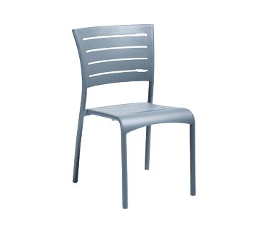 Florida Seating AL-5000-S WARM GRAY/SILVER Side Chair