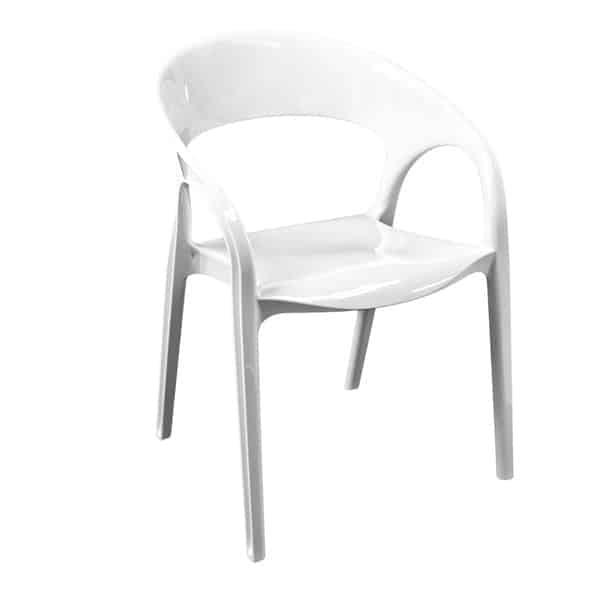 Florida Seating GOSSIP/WHITE Pedrali® Gossip Arm Chair