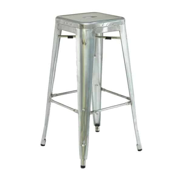 Florida Seating IND BB GALVANIZED Industrial Barstool