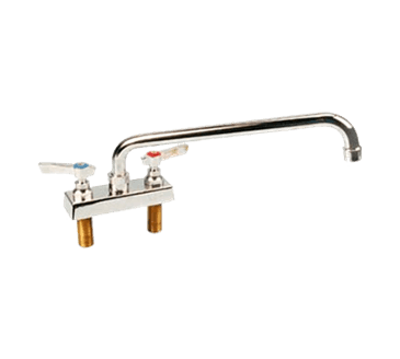 """FMP 107-1087 Commercial-Duty 4"""" Center Faucet 12"""" spout"""