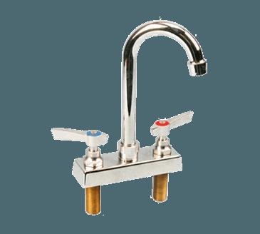 """FMP 107-1089 Commercial-Duty 4"""" Center Gooseneck Faucet"""