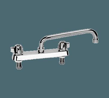 """FMP 107-1100 Commercial-Duty 8"""" Center Faucet 12"""" spout"""
