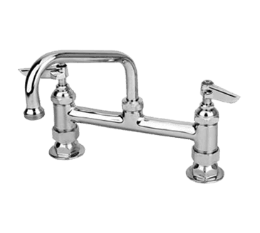 "FMP 110-1151 200 Series 8"" Center Faucet by T&S Brass 6"" spout"