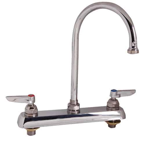 "FMP 110-1155 1100 Series 8"" Center Gooseneck Faucet by T&S Brass"