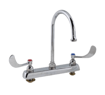 "FMP 110-1233 1100 Series 8"" Center Faucet by T&S Brass With wristblade handle"