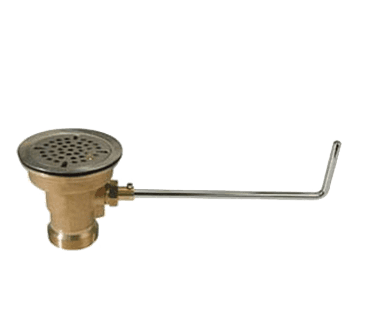 FMP 112-1040 Drain King Cast Red Brass Twist Waste without Overflow by Fisher