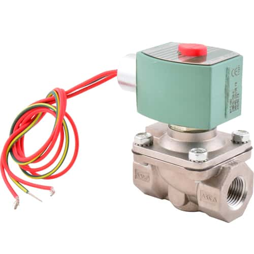 """FMP 117-1404 Asco Hot Water-Rated Solenoid Valve 1/2"""" NPT inlet and outlet"""