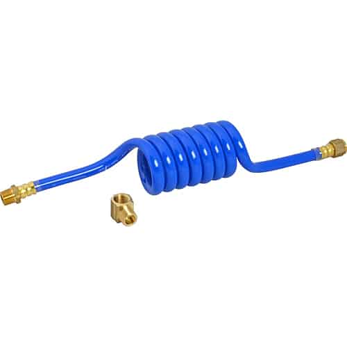 "FMP 117-1462 Swirl Hose Water Supply Line with Street Elbow by Dormont 3/8"" NPT male and female fittings"