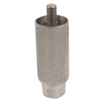 "FMP 119-1026 4"" Stainless Steel Satin Finish Leg 1/2-13 mounting stud"