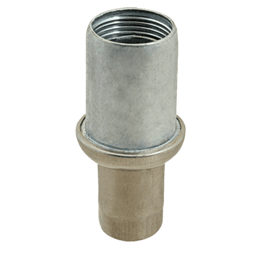 "FMP 119-1053 Zinc Die-Cast Bullet Foot For 1-5/8"" OD round tubing"