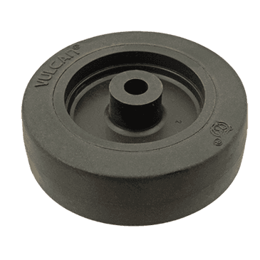 "FMP 120-1023 Standard-Duty 3"" Caster Wheel with Plain Bearing Black rubber wheel with plastic hub"