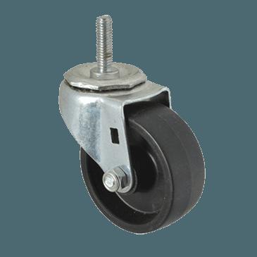 "FMP 120-1030 Standard-Duty 3"" Threaded Stem Caster Black polyolefin wheel and hub"