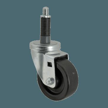 "FMP 120-1045 Standard-Duty 4"" Stem Caster with Brake Polyurethane wheel with plastic hub"