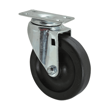 """FMP 120-1052 Standard-Duty 4"""" Plate Caster Solid polyolefin wheel and hub"""